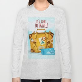 Travel Concept With Suitcase Long Sleeve T-shirt