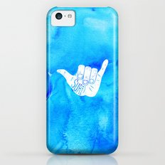 Surf Hang Loose Hawaiian Ocean Blue Hip Watercolor Slim Case iPhone 5c