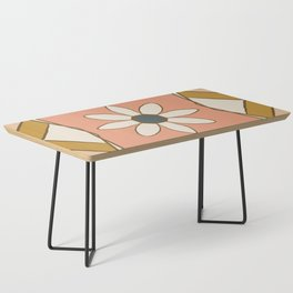 Bold Midcentury Tile Pink Coffee Table