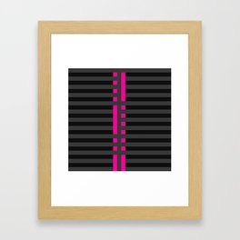 Licorice Bytes, No.2 in Black and Pink Framed Art Print