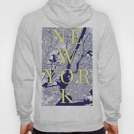 New York Typographic Print. NYC STREETS Hoody