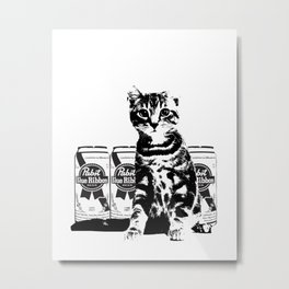 Bodega Kitty Metal Print