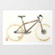 Coffee Wheels #06 Art Print