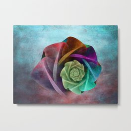 Abstract Rose Metal Print