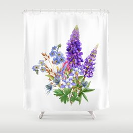 Bouquet of Wild Flowers Shower Curtain