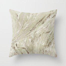 oyster texture Throw Pillow