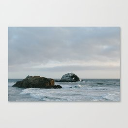 Pastel Sunset at Sutro Baths Canvas Print