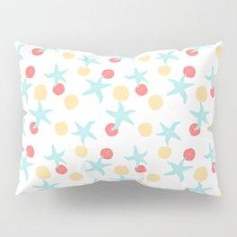Salish Starfish in White Pillow Sham