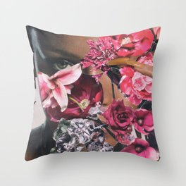 Rihanna Floral Throw Pillow