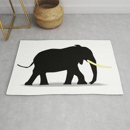 Cartoon Elephant Silhouette Rug