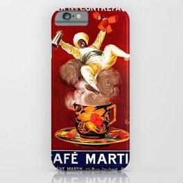 Vintage poster - Café Martin iPhone Case