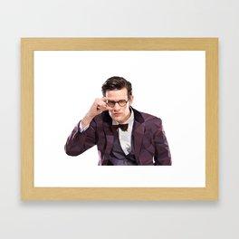 The Eleventh Doctor, Matt smith low poly portrait Framed Art Print