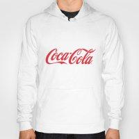 coca cola Hoodies featuring Coca Cola by ZenthDesigns