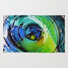L'œil sur le futur, acrylique / Eye on the futur, Acrylic artwork Rug