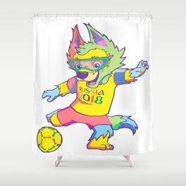 Zabivaka world cup 2018 mascot Shower Curtain