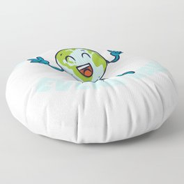 Earth day every day - environmental protection Floor Pillow