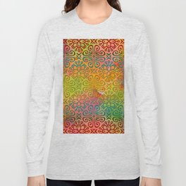 DP050-6 Colorful Moroccan pattern Long Sleeve T-shirt