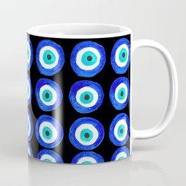 Evil Eye Amulet Talisman - on black Coffee Mug