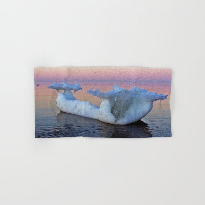 Viking Iceship on the Sea Hand & Bath Towel