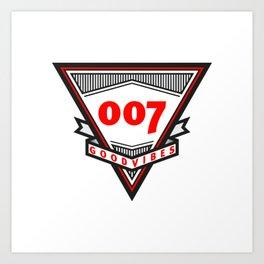 Good Vibes 007 Art Print