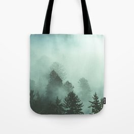 Magnificent Morning - Foggy Redwood Forest Nature Photography Tote Bag
