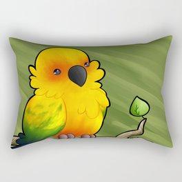 Aska the Sun Conure Rectangular Pillow