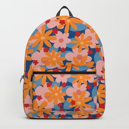 Camo A GoGo Floral in Circus Colors Backpack