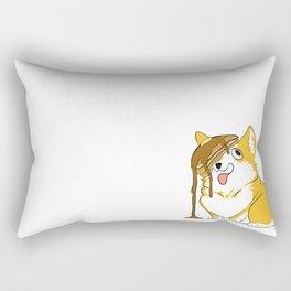 Pancake Corgi Rectangular Pillow