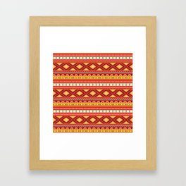 Tribal #5 * Ethno Ethnic Aztec Navajo Pattern Boho Chic Framed Art Print