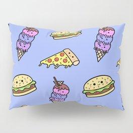 Fast Food Cuties (Blue) Pillow Sham