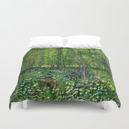 Vincent Van Gogh Trees and Undergrowth 1887 Duvet Cover