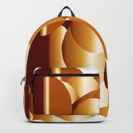 copper metal shield abstract geometrical art Backpack