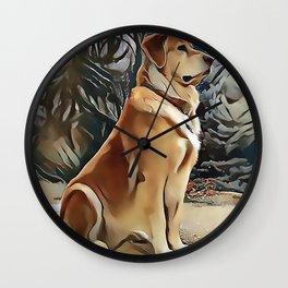 A Golden Retriever Wall Clock