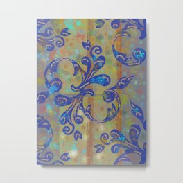 Softly Moving Patterns Metal Print