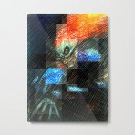 Halloween Mask Metal Print
