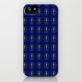 flag indiana,midwest,america,usa,carmel, Hoosier,Indianapolis,Fort Wayne,Evansville,South Bend iPhone Case