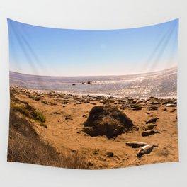 Elephant Seals on the California Coast Wall Tapestry