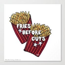 Fries B 4 Guys Canvas Print