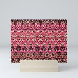 Pink Red and Purple Floral Geo Design Mini Art Print