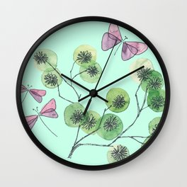 a touch of summer fragrance Wall Clock