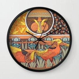 Maurice Pillard Verneuil - Oiseaux, jeu de fond Wall Clock