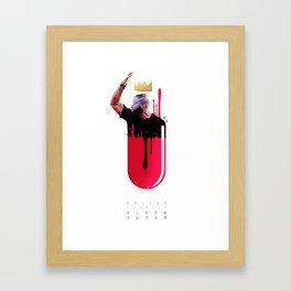 Black Sugar Read Pill Framed Art Print