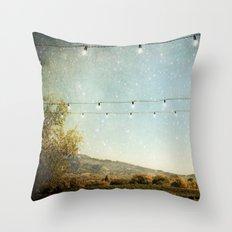 Starlit Vineyard Throw Pillow