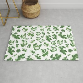 Falling Green Leaves Rug
