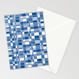 Mod Gingham - Blue Stationery Cards