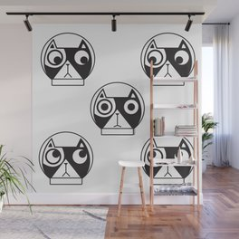 We are watching you. MEOW!!! (Space Cat) Wall Mural
