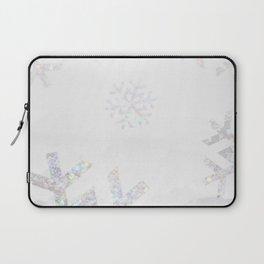 Snowflake Glitter Laptop Sleeve