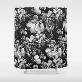 Through The Flowers // Floral Collage Shower Curtain