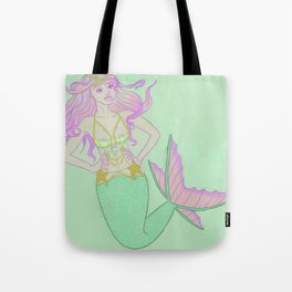 Pastel Mermaid Tote Bag