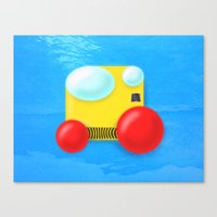 submarine Canvas Prints featuring Submarine by Bryan Keir